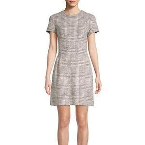 Theory Cream Tweed Corset Tee Short Sleeve Dress 6